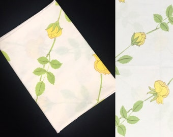 Single Pillowcase   Standard Size   Yellow Rose Garden