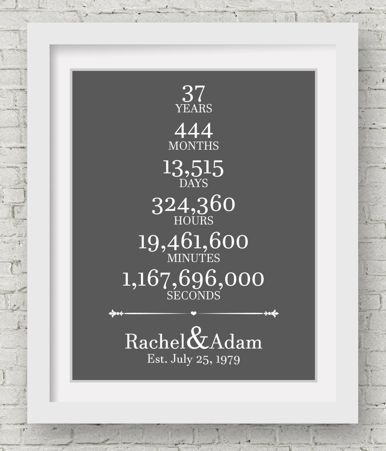 Wedding Gift For 37 Years : 37th Wedding Anniversary Gift For Parents 37 Year Anniversary