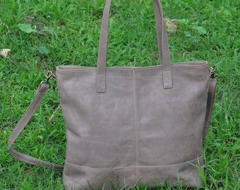 Leather Tote Bag, Cross body Leather Tote, Leather Laptop Bag, Leather Diaper Bag, Leather Shoulder Bag, Leather Bag
