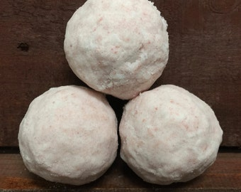 Cherry Almond Handmade Fizzy Bath Bombs Lot of 3