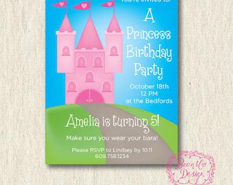 Princess Birthday Party Invitation / Printable