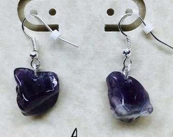 Amethyst Chunk Earrings