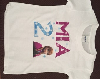 Custom Anna Frozen Birthday Kids Shirt