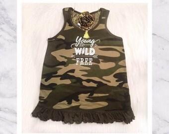 Toddler & Girls' Camo Dress