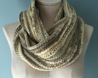 Ombre Crochet Infinity Scarf