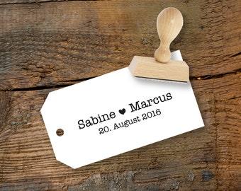 individual wedding stamp name