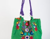 Mexican Bag/Beach Bag/Mexican Purse/Ethnic Bag/Handbag/Tote Bag/Mexican/Mexican Tote/Market Bag/Embroidered Bag/Huipil/Embroidered Dress