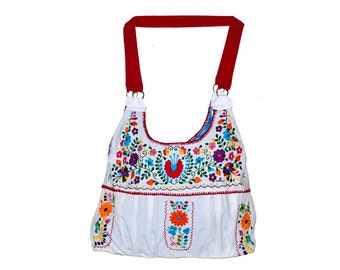 Mexican Embroidered Bag/Mexican Bag/Mexican Dress/Huipil Bag/Embroidered Crossbody Bag/Frida Bag/Boho Bag/Mexican Dress Bag/Mexican Style
