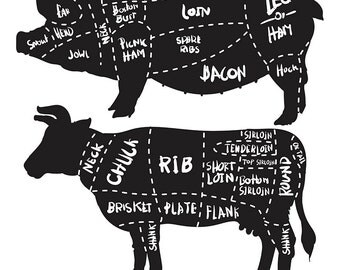 80% Off Sale Cut of meat set. pork and beef cuts diagram and butchery set. Pork cuts diagram. Butcher shop. (EPS, JPG)