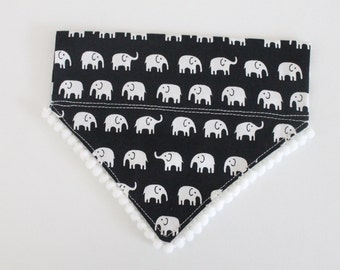 XS Elephants & Pom Poms Dog Bandana