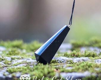 "Shungite pendant ""pendulum"" from Karelia magic stone talisman reiki aura"