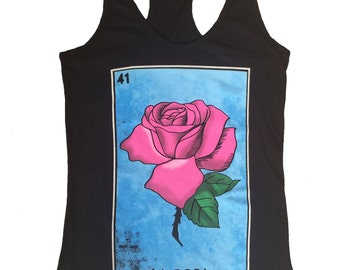 La Rosa Mexican Loteria Cards Women Tank Top