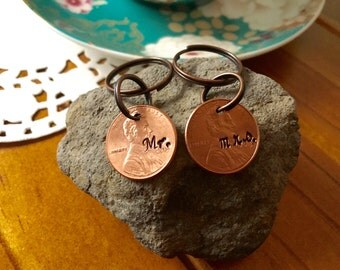 Mr. & Mrs. Lucky Penny. American Penny. Personalised Gift for a couple
