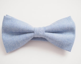 Mens denim look Bow tie