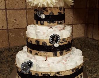 Vintage diaper cake