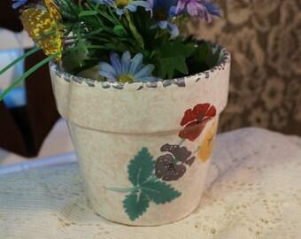 Hand Painted Flower pot