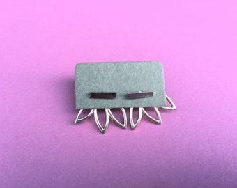 Peek-A-Boo Under-Ear Stud Earrings