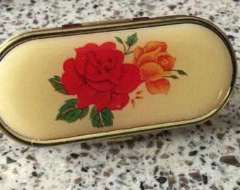 Vintage rose ring hidden mirror