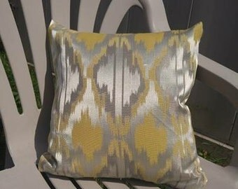 Metallic Yellow Cushion Cover