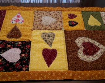 Heart  Patchwork Table Runner