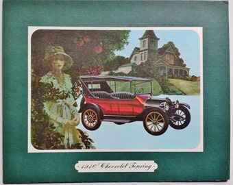 Artwork 1916 Chevrolet Touring Car mounted on board