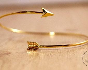 """18 k gold-plated Bracelet """"Arrow"""" adjustable"""