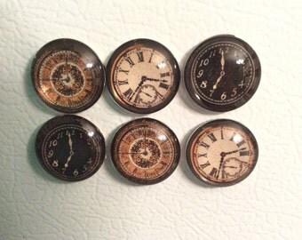 Clock Refrigerator Magnets clock, watch, timepieces