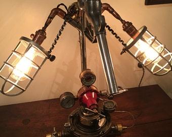 Urban Industrial/Automotive themed Desk Lamp...Diesel-Punk Genera