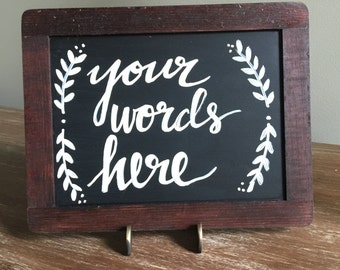 Customized Wood Framed Chalkboard Sign