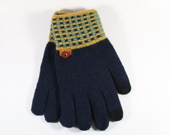 Men's Warm Mixed Cotton Glove's