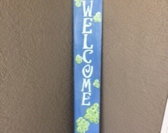 Welcome wooden signs