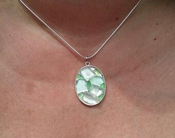 Beach Glass Mosaic Necklace (N0706)
