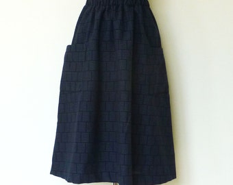 SASHIKO flared skirt  (刺し子)