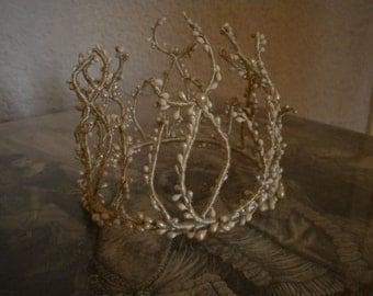 Old 19th century wedding tiara Crown