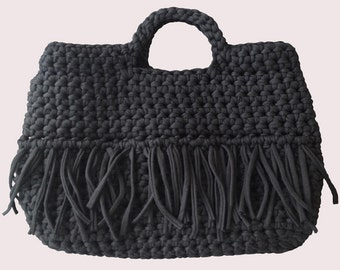 Crocheted bag - Antracite