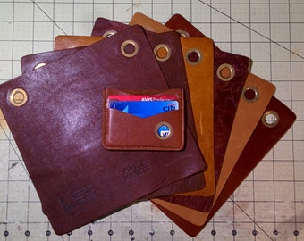 Leather Wallets – Made from recycled leather upholstery swatches