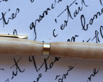Curly maple ball point pen