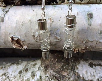 Wire wrapped fuse earrings