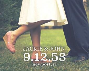 "Save the Date Postcard // Horizontal Vertical // 4""x6"" 5""x7"" // PDF Download"