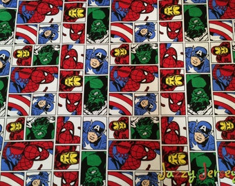 Marvel superheroes french terry knit fabric