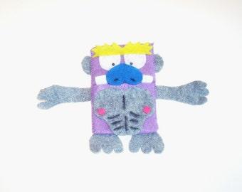 A Handmade Pouch Monkey