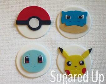 Pokemon Fondant Cupcake Toppers