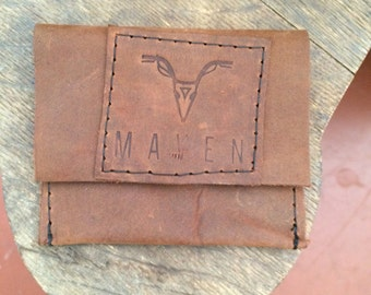 Maven learher wallet hand crafted, and stitched! OOAK