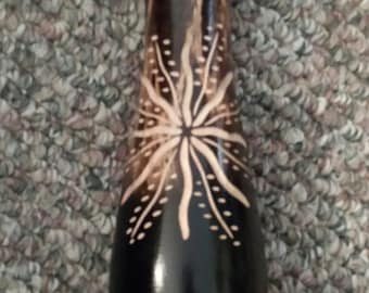 HandCarved Wood Vase