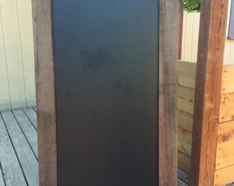Vintage wooden chalkboard frame
