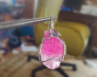 Dark Pink Tourmaline and Silver