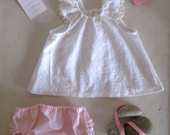 summer girl outfit in sangallo