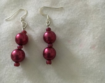 Earrings, Mauve