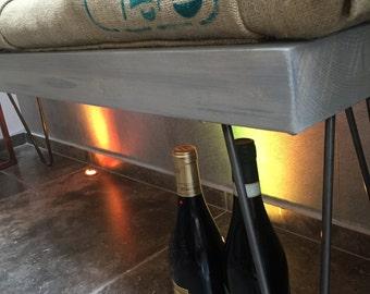 Coffee sack bench