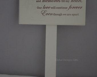 SON  MEMORIAL STICK, Graveside memoriel Marker Tribute   F0898D